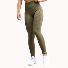 Nepoagym Khika Energy Seamless High Waist Leggings Compression Workout Pants Tummy Control Gym Pants Booty Scrunch Fitness Pants