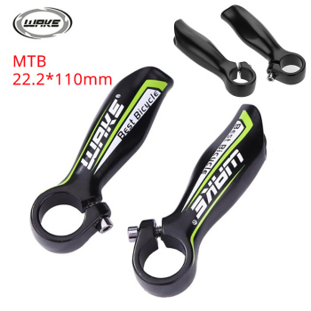 WAKE 1 Pair Handle bar End MTB Bike 22.2mm Small Auxiliary Handlebar mountain Road bicycle Handlebar Horns Aluminum Alloy 110mm image