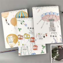 Fashion Sketchbook Diary for Drawing Painting Graffiti Blank Paper Sketch Book Memo Pad Notebook Office School Supplies hot sketch book blank simple kraft spiral notebook painting supplies students prizes drawing notebook school office supplies 1pc