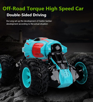 New 2.4G 4WD 20 Mins Driving Time High Speed Double Sided Driving RC Stunt Car Off Road Climbing RC Car With 3pcs Battery gifts