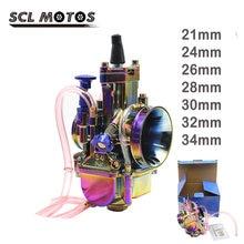 Карбюратор для мотоцикла scl moto pwk 21 24 26 28 30 32 34 мм