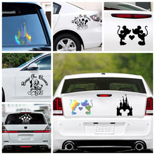 Car Stickers Mickey Minnie Decal Laptop Decals Large Bear Car Accessories for Car Sticker Decor Glue Sticker Car Body PVC cheap The Whole Body Plant Flowers cartoon Comes Packaged