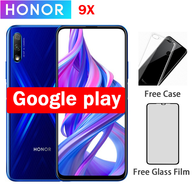 "Honor 9X Cell Phone Kirin 810 Android 9.0 6.59"" 2340X1080 4GB RAM 64GB ROM Elevating Camera 48.0MP"
