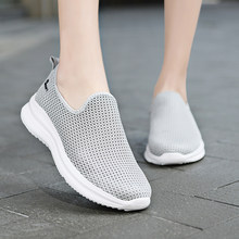 Breathable Mesh Platform Sneakers Women fashion black tenis sport shoes 2021 New lightweight women running sneakers Unisex 36-47