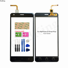 5.5'' Mobile Touch Screen For MyPhone Q-Smart Plus Touch Screen Lens Sensor Digitizer Panel Fornt Glass Tools 3M Glue Wipes