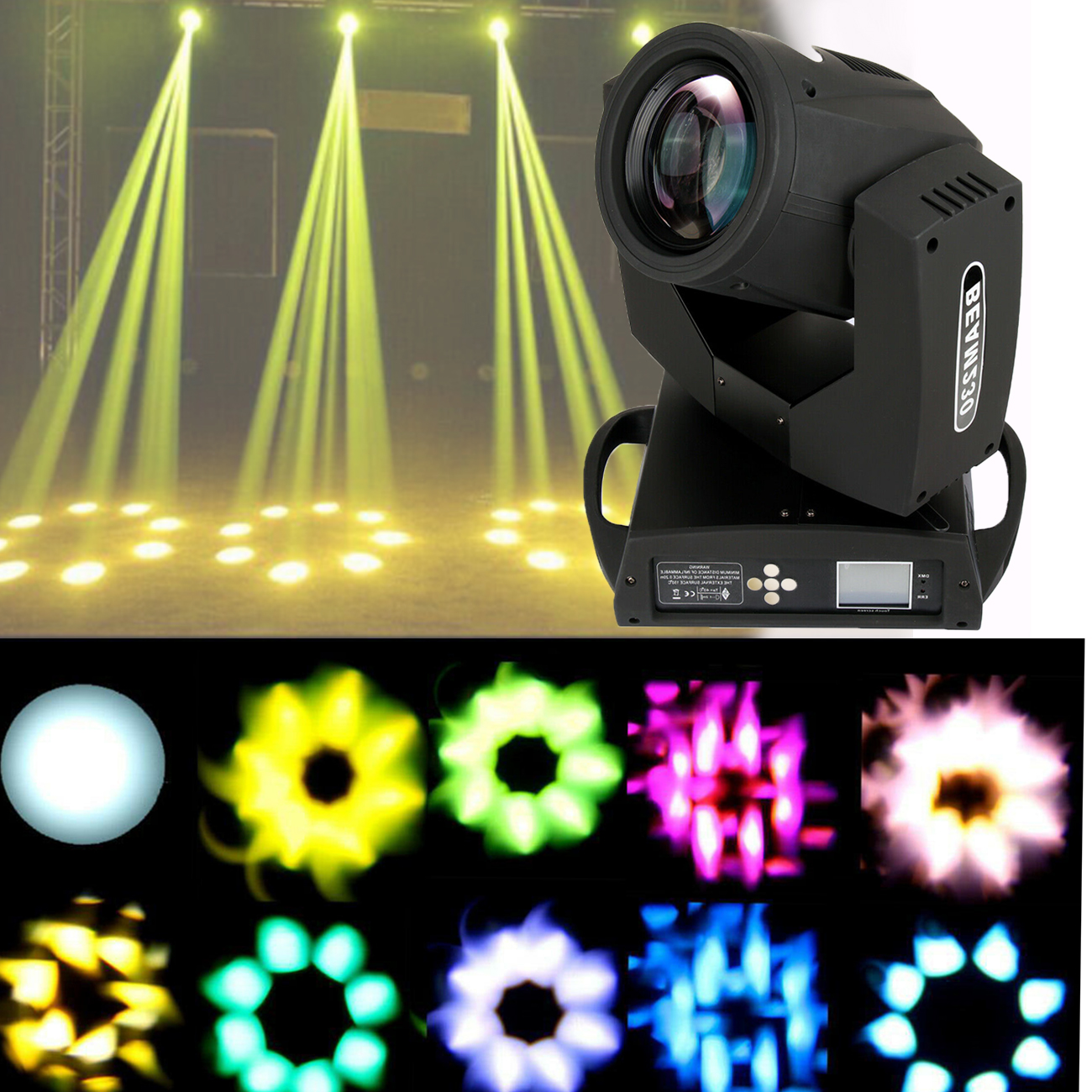 Honhill Led DMX Stage Light Lyre 230W 7R Moving Head Light <font><b>Beam</b></font> <font><b>230</b></font> <font><b>Beam</b></font> 7R Disco Lights for DJ Club Nightclub Party image