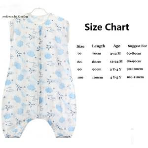 Sleeping-Bag Muslin Baby Cotton Summer Kids for 0-5-Years Clothing