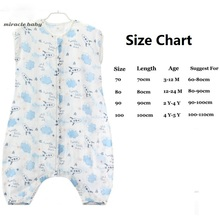 Cotton Muslin Sleeping Bag for Kids 0-5 Years Baby Sleep Sack Summer Sleepsacks Baby Kids Sleeping Bag Sleepwear Clothing