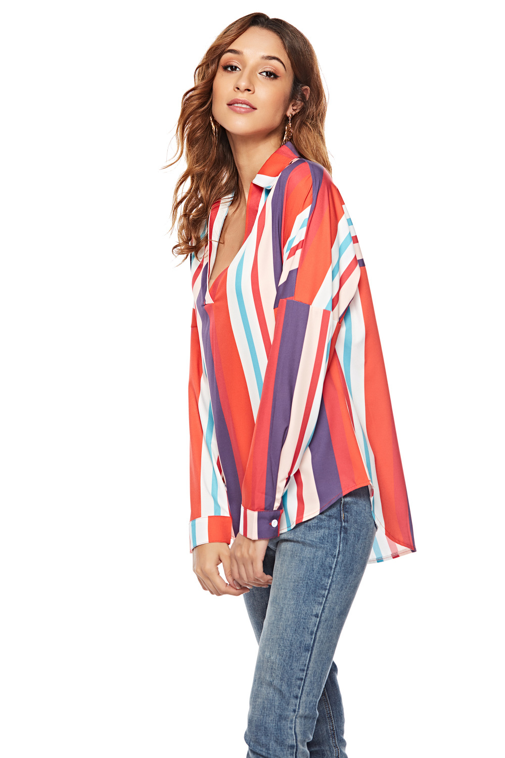 women blouse fashion 2020  female ladies clothing womens striped long sleeve casual elegant office work top shirt top 90s