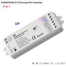 VP RF 2.4G RGBW/RGB/CCT/Dimming led controller 4 in 1 DC12-24V 15.5A 4CH receiver PWM dimmer for strip bulb