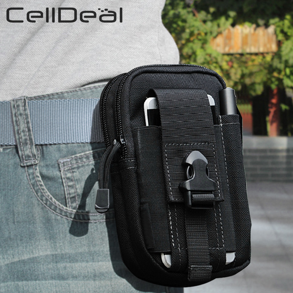 Waist Pack Men's Casual Bag Travel Purse Waterproof Belt Zipper Tactical Outdoor Sport Fanny Multifunction Pack Phone Pocket