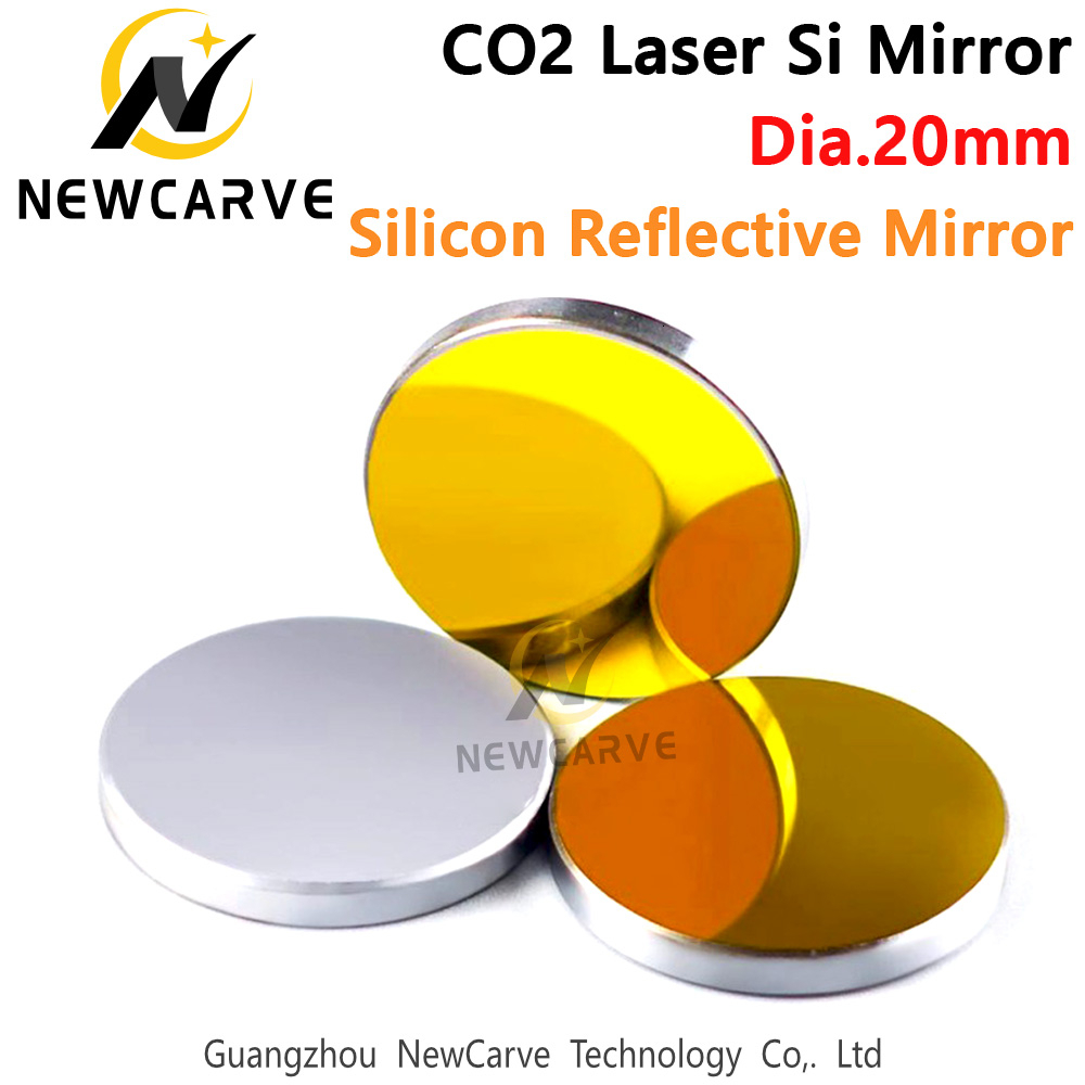 Diameter 20mm Si Mirrors CO2 Laser Reflective Mirror  For CO2 Laser Engraving Machine NEWCARVE