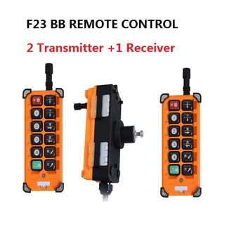 up down pushbutton crane hoist switch rainproof cob 63a 220VAC 12V 24V 36V 380V Wireless Crane Remote Control F23-A++S Industrial Remote Control Hoist Crane Push Button Switch