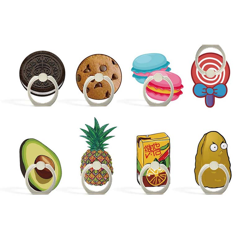 8 Styles Cute Snacks Appearance Phone Holder Ring Mobile Phone Stand Cookies Finger Phone Ring Holder Support Celular