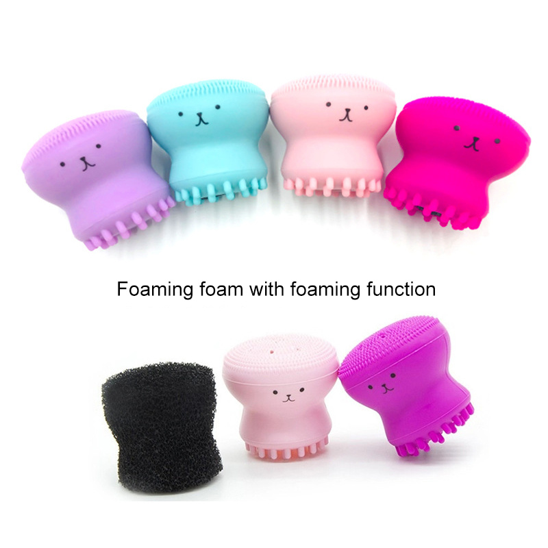Silicone Face Cleansing Brush Facial Cleanser Pore Cleaner Exfoliator Face Scrub Washing Brush Skin Care Octopus Shape TSLM1 image