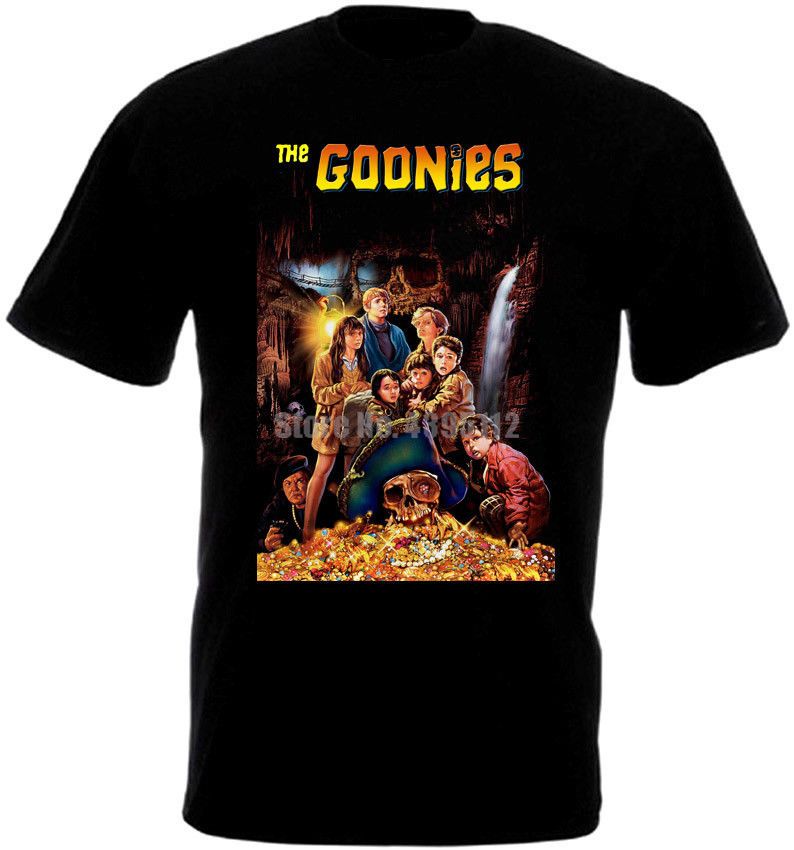 The Goonies Movie Poster Mens Tee Shirt Hip Hop Streetwear T Shirt Homme Humour T-Shirt O Neck T-Shirts Mens Fashion Clothing