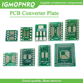 10pcs PCB Board SOP8 SOP14 SOP16 SOP20 SOP24 SOP28 QFP FQFP TQFP Turn To DIP Adapter Converter Plate TSSOP 8 14 16 20 24 28 - sale item Active Components