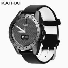 Cronómetro para hombre, reloj inteligente de pulsera de cuero, relojes de cuarzo negro, monitor de ritmo cardíaco, despertador, reloj de pulsera deportivo de lujo