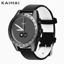 KaiHai סטופר גברים שעון חכם יד עור שחור קוורץ שעונים קצב לב צג מעורר שעון ספורט שעוני יד יוקרה