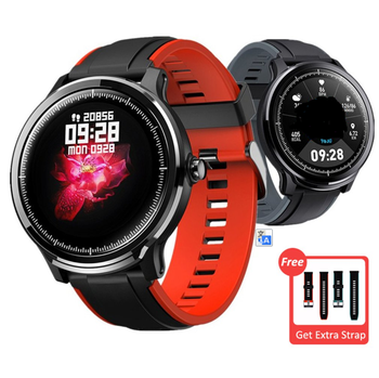 Ip68 Waterproof Touch Circular Screen Watch Men Full Touch Round 250Mah 24-Hour Health Monitoring Real-Time Accurate Pedometer