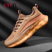 CYYTL Mesh Breathable Sport Running Shoes Outdoor Casual Walking Sneakers Mens Trainers Lightweight Breathable Zapatos Hombre new genuine leather cow shoes men sport running shoes breathable jogging walking mens trainers walking chaussures hombre femme