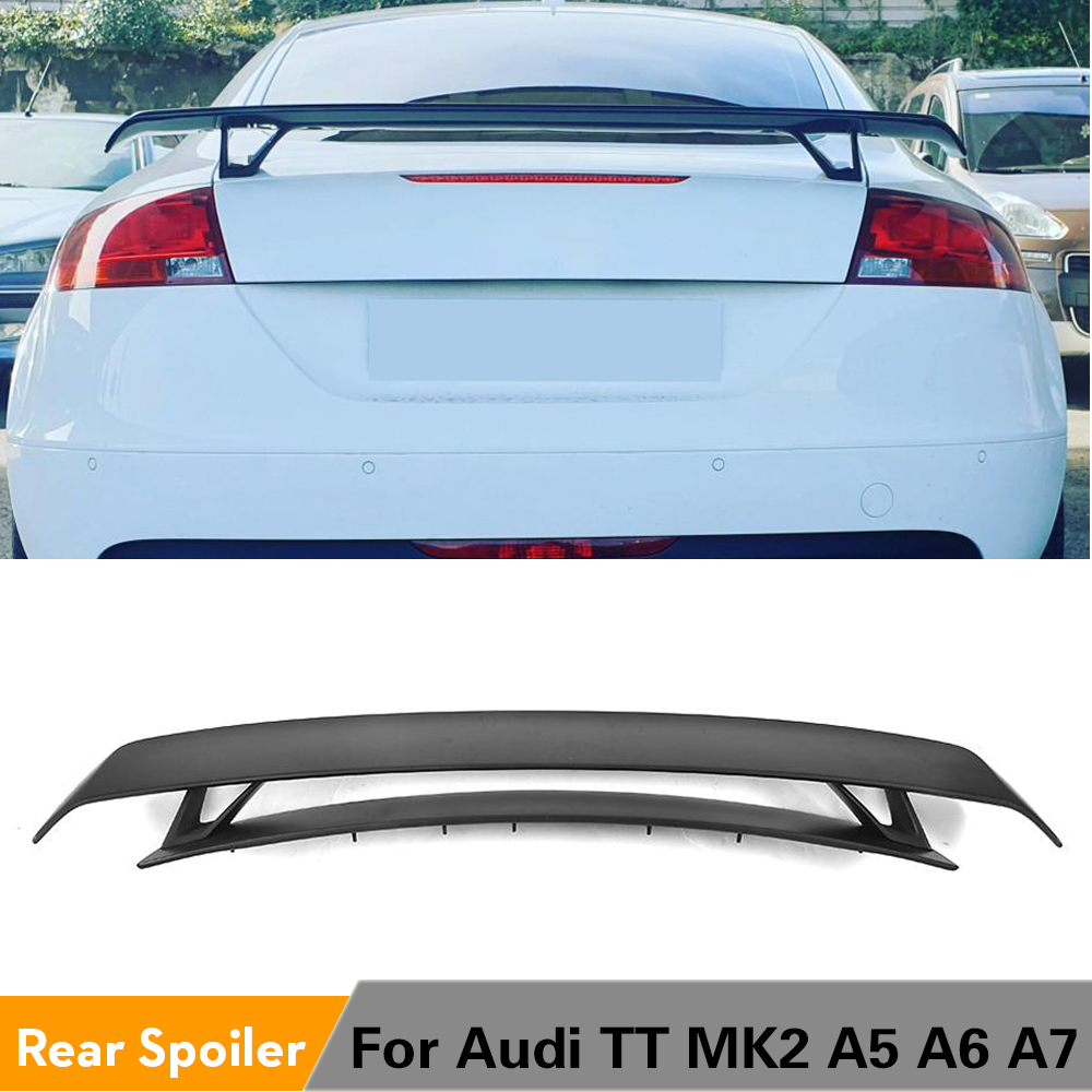 A5 Rear Trunk Spoiler Boot Lip Wing Unpainted Fit For Audi A5 Coupe 2-Door 08-13