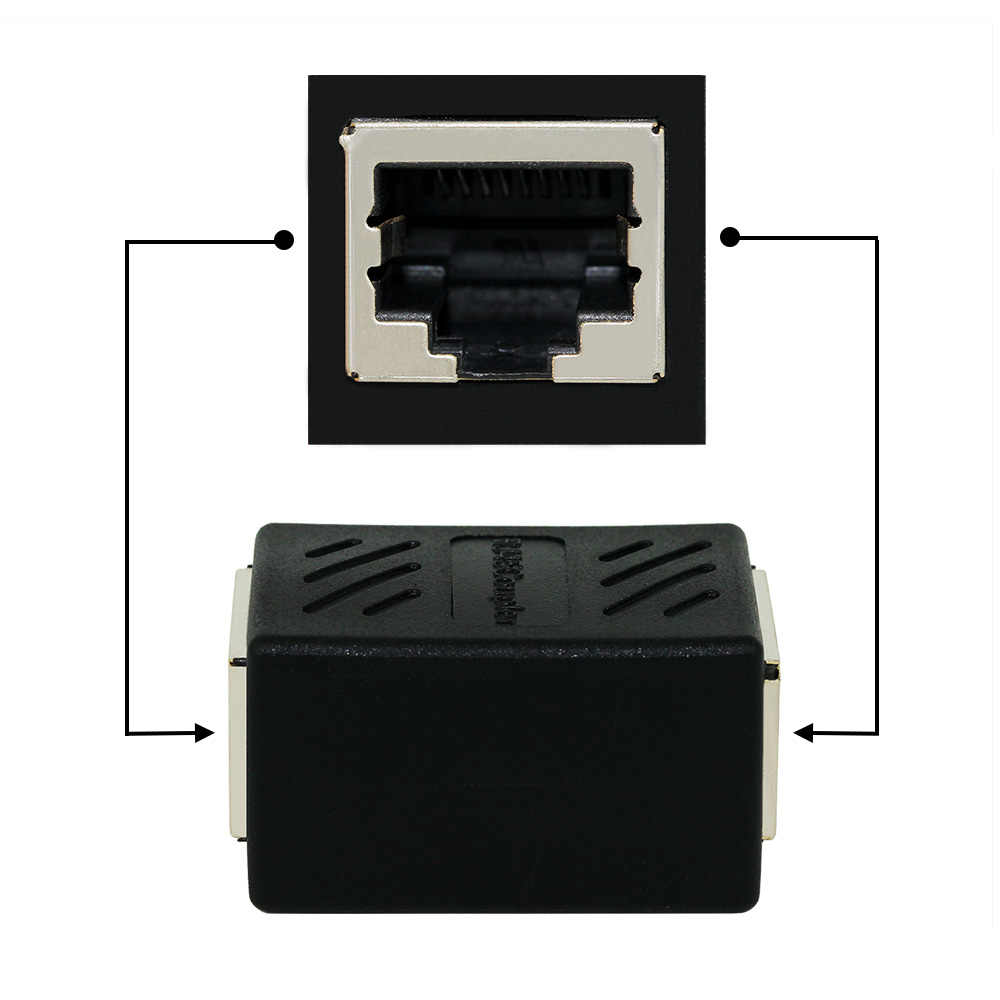 ANPWOO RJ45 หญิงหญิงพอร์ตเครือข่าย LAN Ethernet Splitter Connector Transfer หัว RJ45 อะแดปเตอร์ Coupler CAT5 CAT6 SOCKT