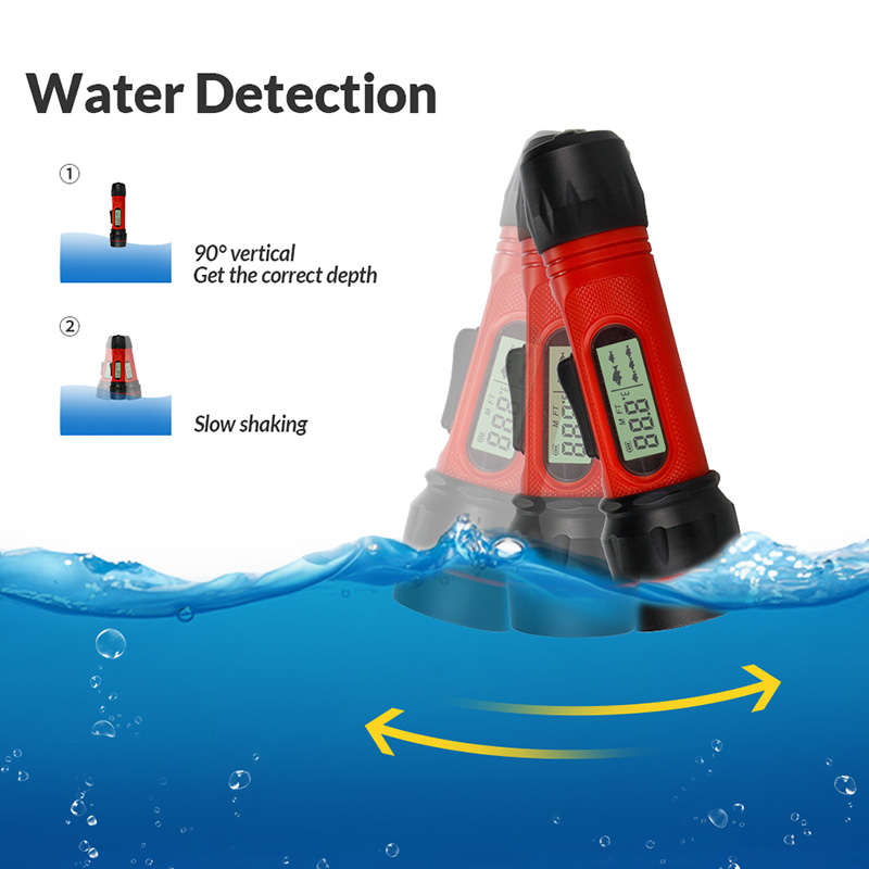 Portable Fish finder Wireless Echo Sounder 0 8 90m Depth Digital Handle Transducer Sensor Sonar Fishfinder for Ice Fishing in Fish Finders from Sports Entertainment