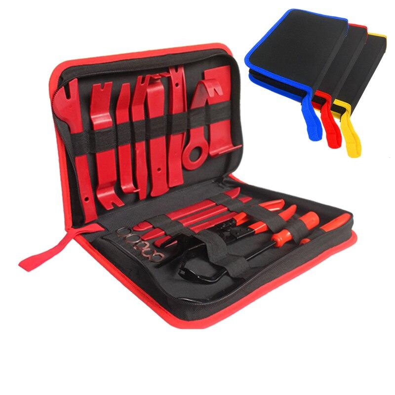 11 sztuk 19 sztuk narzędzie do usuwania wykończenia Panel samochodowy drzwi Audio narzędzie do usuwania wykończenia zestaw Auto klips do samochodu szczypce środek do usuwania zapięcia zestaw narzędzi samochodowych
