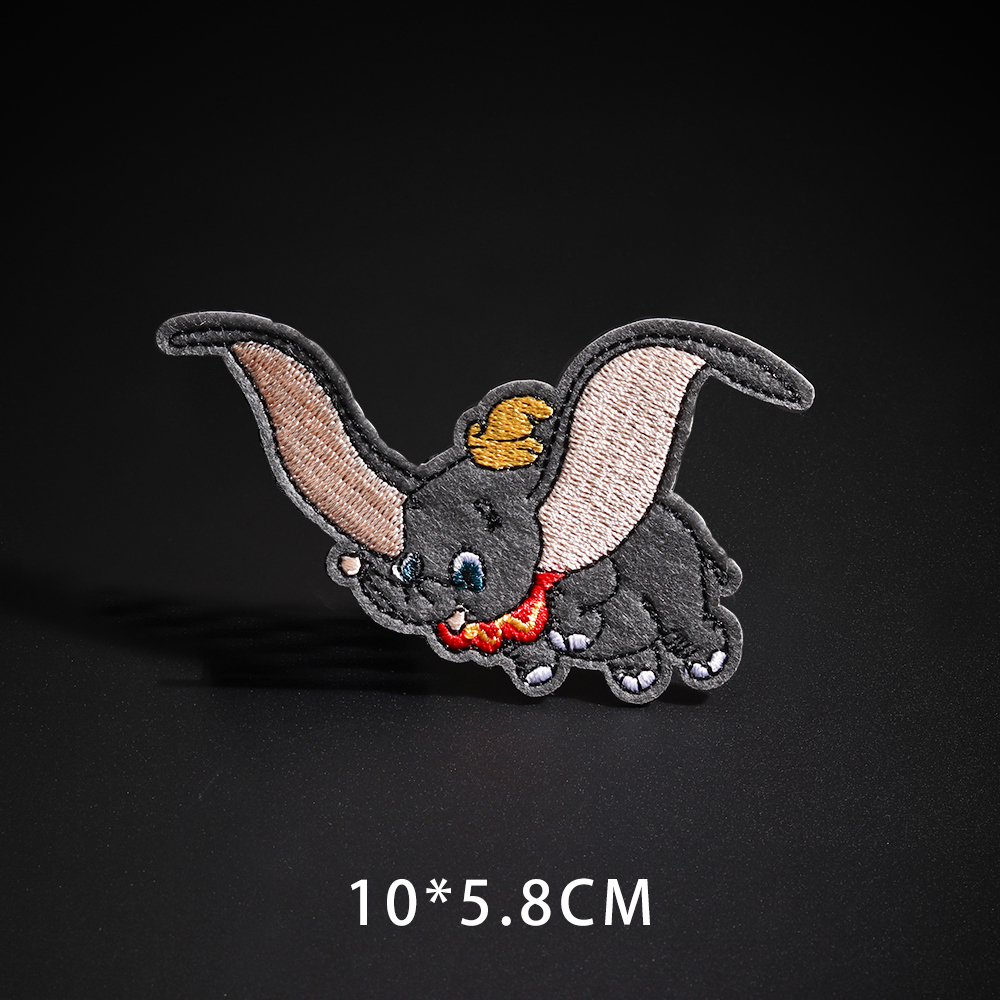 Мультфильм Dumbo нашивки со слонами клеящиеся утюгом украшения Мой сосед Тоторо ткань аппликации 3D Diy милое крыло свободы не лицо значки - Цвет: N3-BT4300