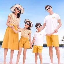 Одинаковые комплекты для семьи летняя мама дочка платье» «папа»