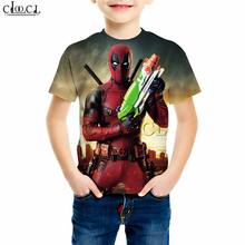 Superhero Deadpool T Shirts Boy Girl 3D Print Classic Movie Casual Sweatshirt Baby Funny Hippie Hips