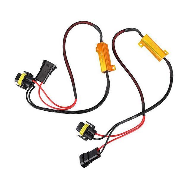 1 paar Automotive LED Scheinwerfer Widerstand Decoder H11 / H8 / H9 Nebel Lampe Legierung Last Widerstand Verdrahtung Eliminator