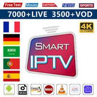 Arabic Smart IPTV France Germany Subscription 1 Year Code IPTV M3u French Turkey Spain IPTV 4K Android Smart Tv Mag IOS IP TV