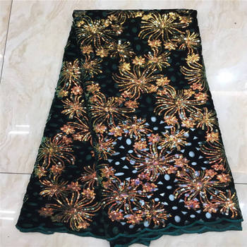 2020 African Sequins Lace Fabric High Quality Nigerian French Lace for Party Embroidery Swiss Voile Lace in Switzerland Wedding