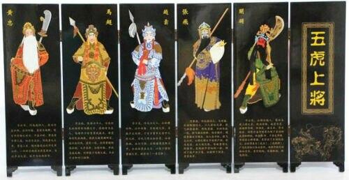 Ev ve Bahçe'ten Statü ve Heykelleri'de Çin Üç Krallık Romantizm Beş Kaplan Generals Zarif Küçük Ekran Lak Süreci Dekorasyon title=