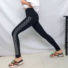 Hot Drilling women workout pants thick spandex leggings Slim side letter sports leggings female spring and autumn cotton все цены