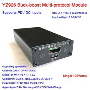 Image 1 - سريع تهمة وحدة PD 100 واط تيار مستمر QC شحن سريع محول USB TYPE C تيار مستمر 12 فولت 24 فولت المدخلات بروتوكول كامل QC403.0 هواوي SCP FCP PD