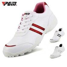 PGMgolf Женская обувь с фиксированной ногтей противоскользящей подошвой удобные Леди Спорт кроссовки досуг дышащая водонепроницаемая микрофибра кожа