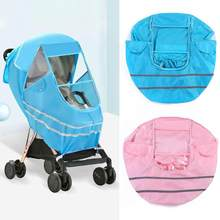 PVC Cart Hood Universal Wind Dust Rain Cover Stroller Luxury Non-Toxic Tasteless Accessories Protect Children Cover 125x85cm(China)
