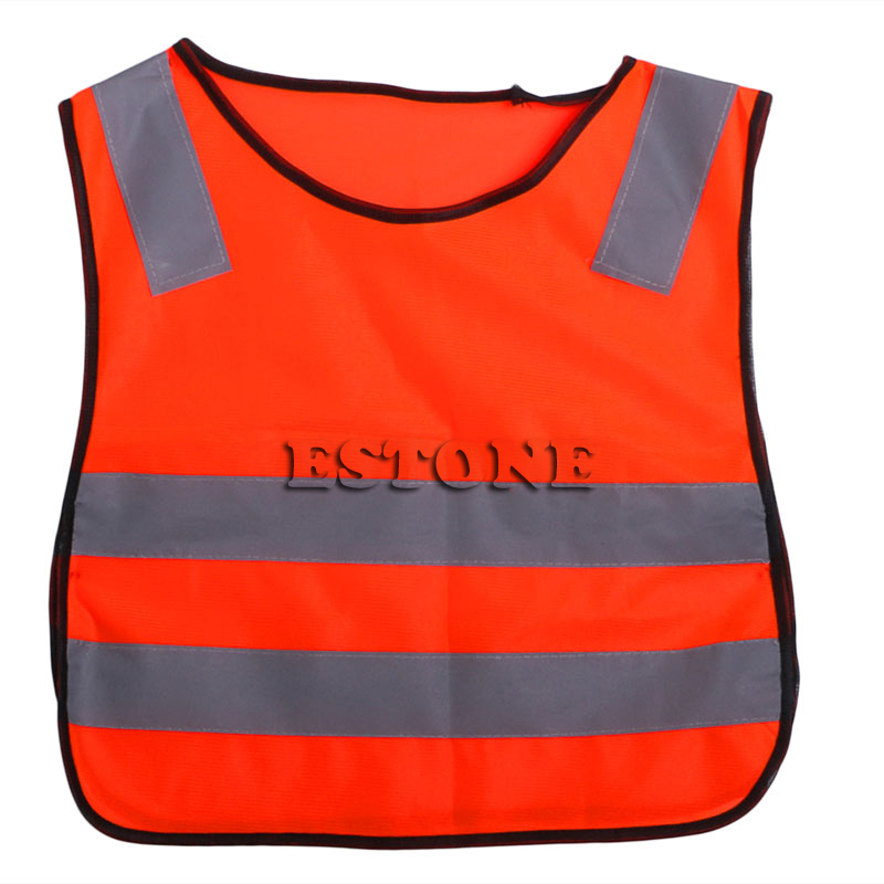Safety Hi Vis Children Waistcoat Vest Grey Reflective Strips Traffic Clothes DXAC