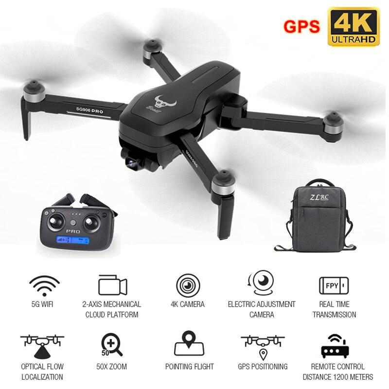 Zangão de hgiyi sg906 pro gps com 2 eixos anti-agitação auto-estabilizando cardan 4 k hd câmera sem escova dron profissional rc quadcopter