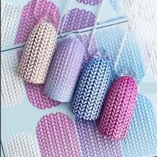 3D акриловые Выгравированные наклейки для ногтей зимний свитер Шарм Дизайн Водные Наклейки Empaistic наклейки для ногтей водные горки Z0249
