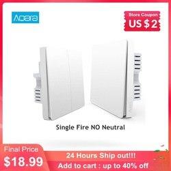 Aqara Smart Wall Light Switch Single Fire Line Light Remote Control Wireless Key Wall Switch Without Neutral Mi Home