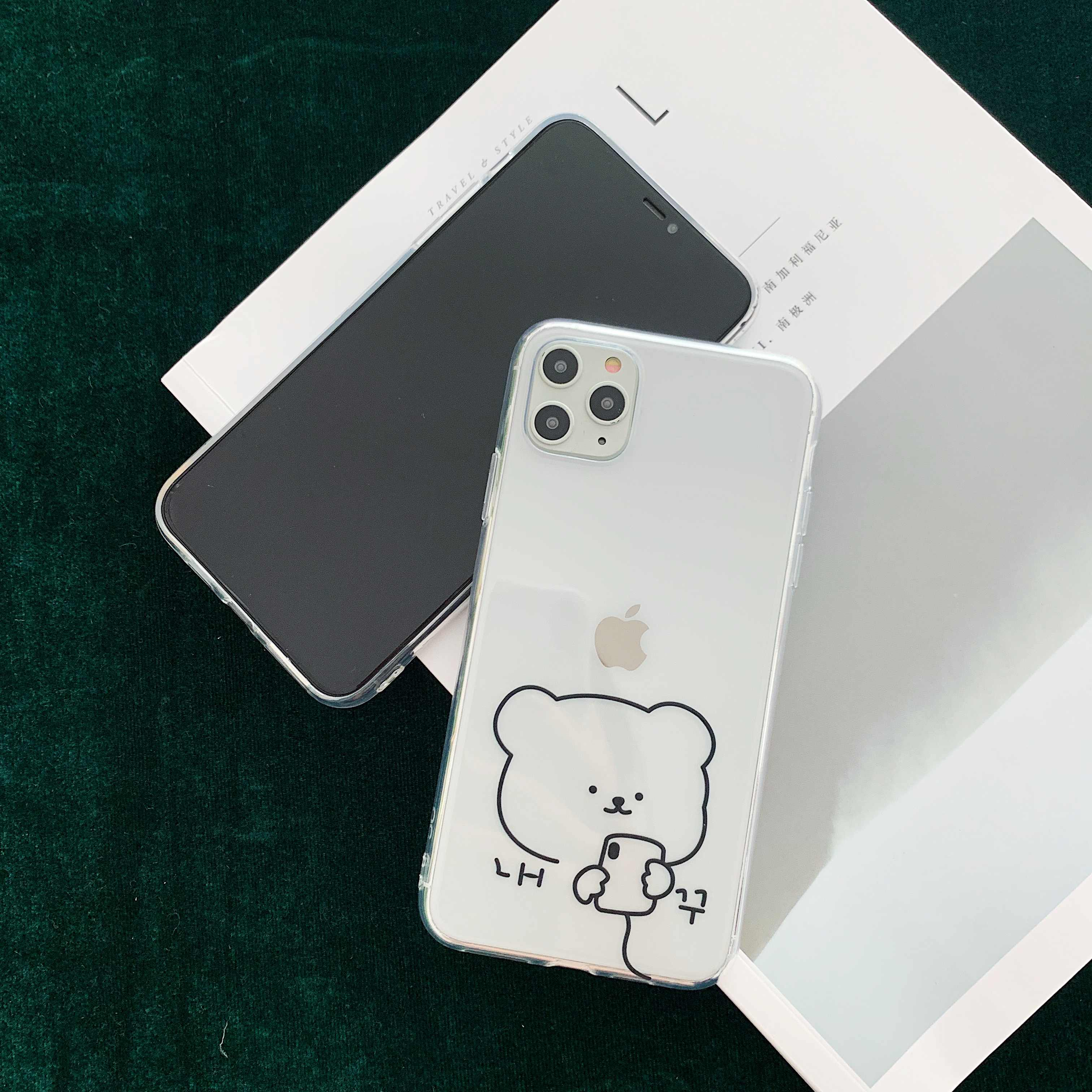 Simpatico orso pane cassa del telefono per il iphone 11 11PRO MAX Trasparente della copertura di TPU per il iphone XR XS MAX X molle Del Silicone fundas coque