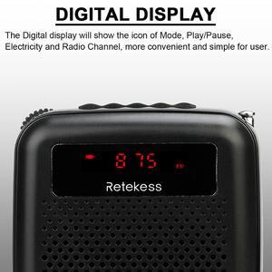 Image 2 - Microphone sans fil TR503 + haut parleur amplificateur vocal Portable avec Radio FM lecteur MP3 PR16R pour la formation des enseignants