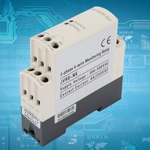 цена на Voltage Protective Relay 4 Wire 3 Phase Phase Sequence Relay Protector off delay protection relay 300-500V AC 50/60Hz