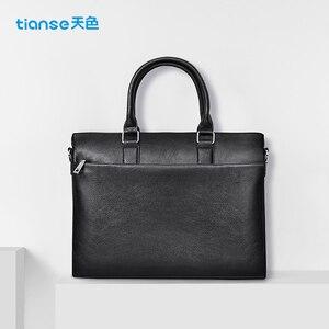 Image 3 - TIANSE กระเป๋าเอกสารผู้ชายกระเป๋าหนังแท้กระเป๋าแล็ปท็อปธุรกิจ Tote สำหรับเอกสารสำนักงานแบบพกพากระเป๋าแล็ปท็อป