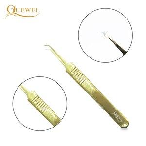Image 5 - Zestaw pincet Quewel z przedłużoną pęsetą antystatyczną pincetą ze stali nierdzewnej precyzyjne, kwasoodporne narzędzia do rzęs