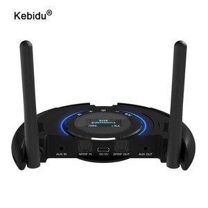 Image 1 - Odbiornik Bluetooth nadajnik wyświetlacz LCD obsługa aptX krótki czas oczekiwania bezprzewodowy Adapter Audio z 3.5mm Aux SPDIF 120M daleki zasięg
